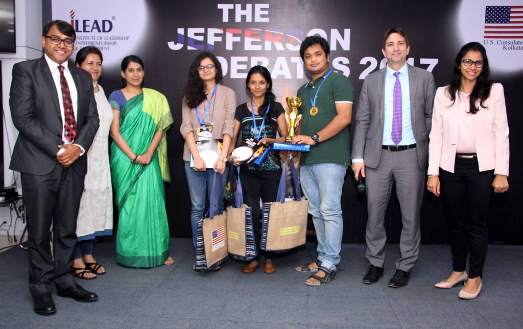 JCC college of Law, Vidyasagar University and Indian Institute of Human Rights jointly won the 1st runner up prize