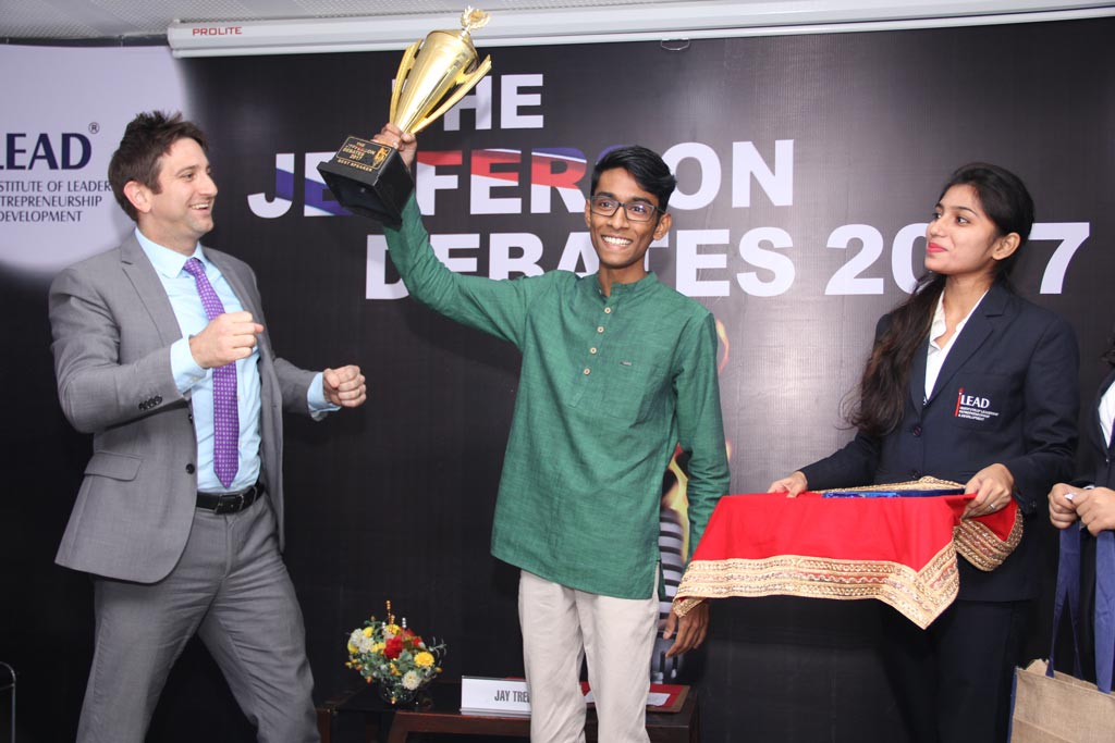 The best overall speaker for the session was awarded to Vishwajeet Gain from St. Xavier's College, Kolkata