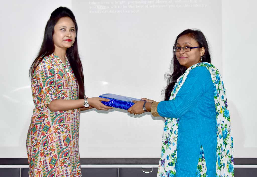 Felicitation of Ms. Moumita Dasgupta